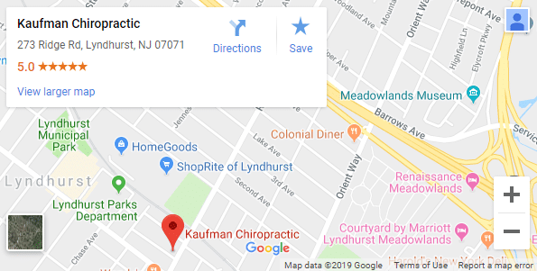 Lyndhurst NJ Chiropractic Map
